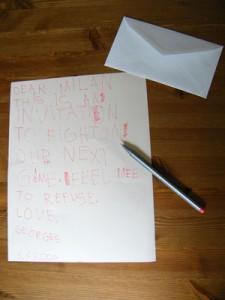 La lettre destinée à Milan Lucic