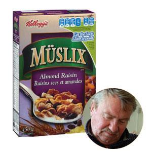 Les Muslix favoriseraient la régularité. En mortaise, le chercheur Marcel Chouinard.