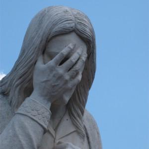 Le Jésus est plutôt découragé.