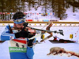 Le biathlon pour non-voyants a été spectaculaire
