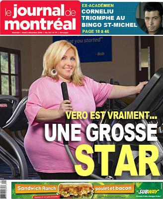 Impossible à satisfaire, Véronique Cloutier n'a pas apprécié la Une du Journal de Montréal