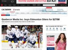 La nouvelle sur le site de la CBC