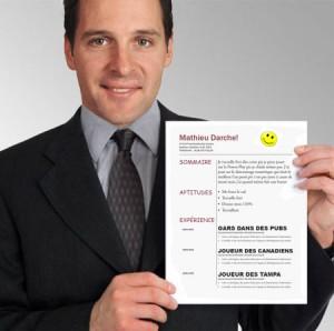 Mathieu Darche fera photocopier son CV chez Bureau en Gros